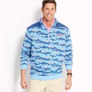 Blue Vineyard Vines fish shep shirt M